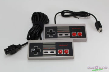 Original NES Controller compared to NES Classic Controller