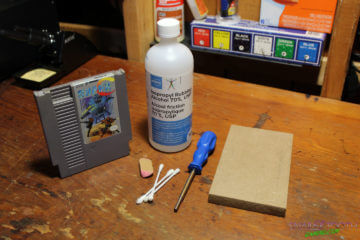 Supplies for Cleaning NES Games